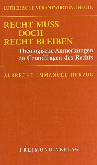 Recht Herzog Cover